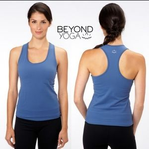 NWT Beyond Yoga Racerback Blue Jay Tank Top XS
